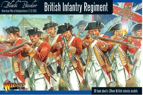 Warlord Games 28mm Black Powder: British Infantry Regiment 1776-1783 (30) (Plast