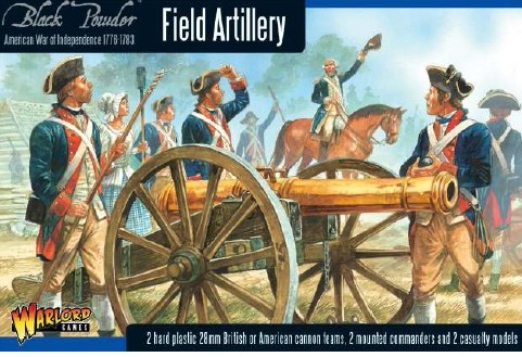 Warlord Games 28mm Black Powder: Field Artillery 1776-1783 (2 Mtd Figs, 2 Casual