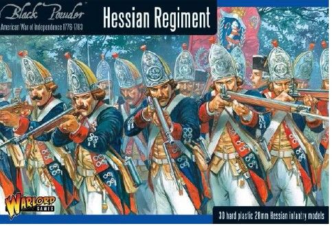 Warlord Games  28mm Black Powder: Hessian Regiment 1776-1783 (30) (Plastic)