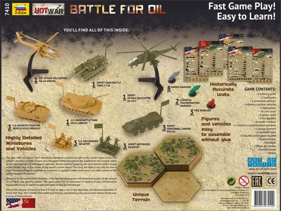 Zvezda Hot War Battle for Oil Warfare Board Game