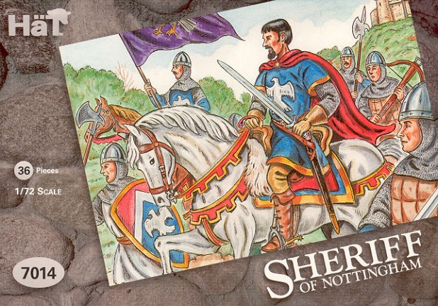 Image 0 of Hat 1/72 Sheriff of Nottingham Soldiers & Horses (36) (D)