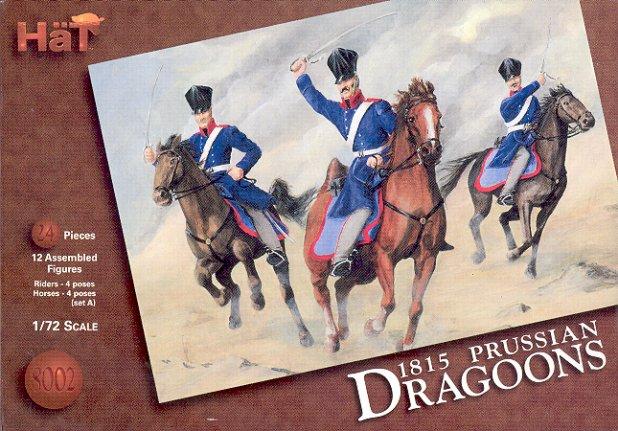 Hat 1/72 1815 Napoleonic Prussian Dragoons & Horses (24)