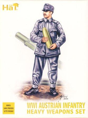 Image 0 of Hat 1/72 WWI Austrian Infantry Heavy Weapons Set (100) (D)