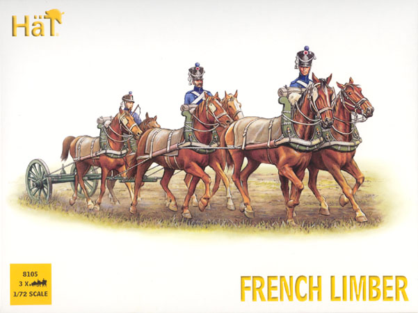 Hat 1/72 French Horse Limber Team (6 Mtd)