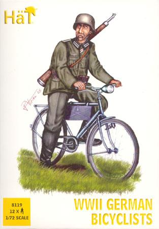 Hat 1/72 WWII German Bicyclists (12)