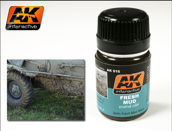 AK Interactive Fresh Mud Enamel Paint 35ml Bottle