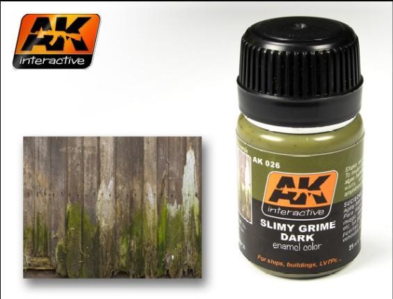 Image 0 of AK Interactive Slimy Grime Dark Enamel Paint 35ml Bottle