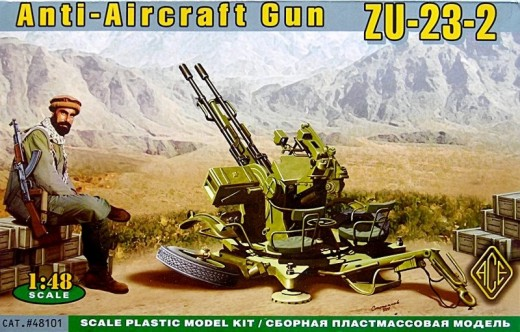 Ace Plastic Models 1/48 ZU23-2 Anti-Aircraft Gun