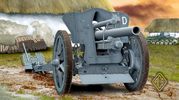 Image 0 of Ace Plastic Models 1/72 German leFH18/18M 105mm Field Howitzer