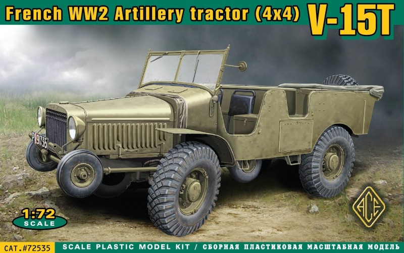 Image 0 of Ace Plastic Models 1/72 V15T 4x4 WWII French Artillery Tractor