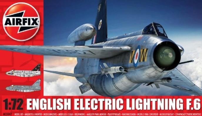 Airfix 1/72 EE Lightning F6 Single-Seater Fighter Model Kit