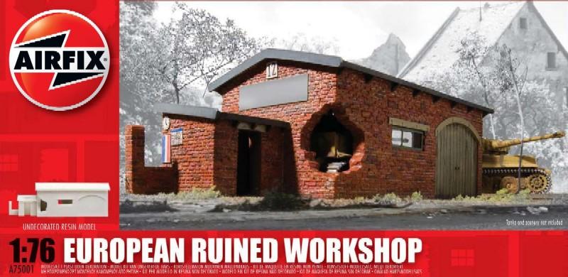 Image 0 of Airfix 1/76 European Ruined Workshop Resin Ready-Built Unpainted (D)