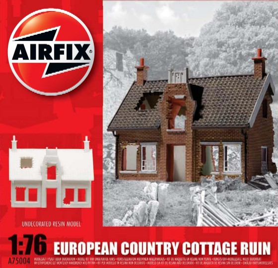 Image 0 of Airfix 1/76 European Ruined County Cottage Resin Ready-Built Unpainted (D)