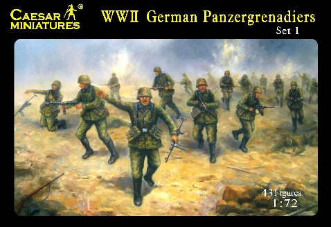 Caesar Miniatures 1/72 WWII German Panzergrenadiers (43)
