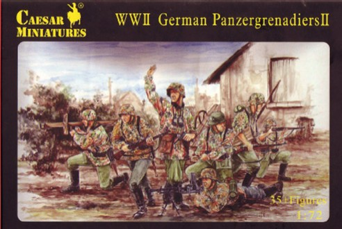 Caesar Miniatures 1/72 WWII German Panzergrenadiers II (36)