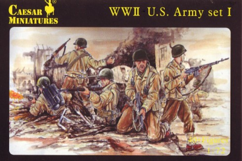 Caesar Miniatures 1/72 WWII US Army Set #1 (41)