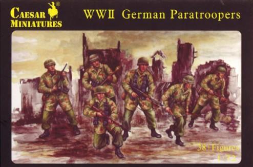 Caesar Miniatures1/72 WWII German Paratroopers (40)