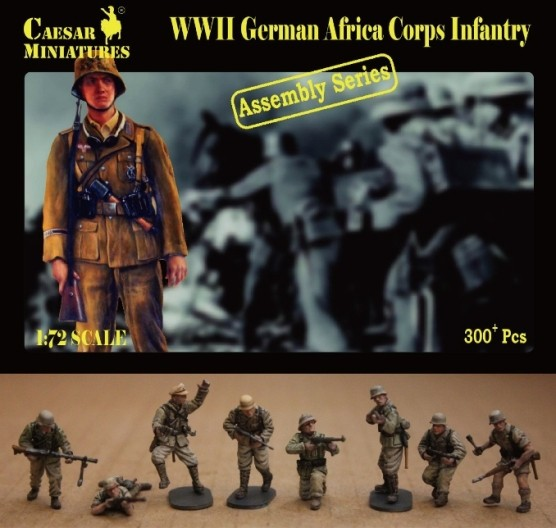 Image 0 of Caesar Miniatures 1/72 WWII German Africa Corps Infantry (16 multi-posed figs) (