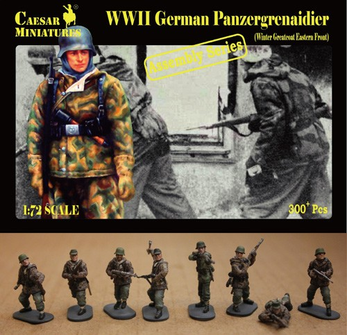 Caesar Miniatures 1/72 WWII German Panzergrenadier Winter Greatcoat Eastern Fron