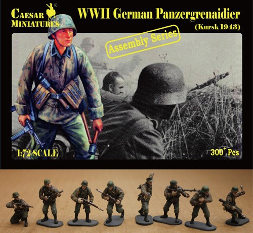 Caesar Miniatures 1/72 WWII German Panzergrenadier Kursk 1943 (16 multi-posed fi