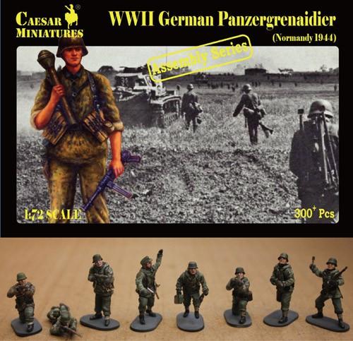 Caesar Miniatures 1/72 WWII German Panzergrenadier Normandy 1944 (16 multi-posed