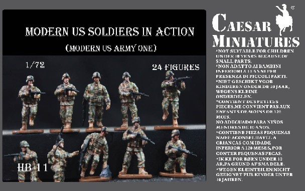 Caesar Miniatures1/72 Modern US Soldiers in Action (24)