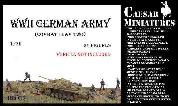 Caesar Miniatures 1/72 WWII German Army Combat Team Two (21)