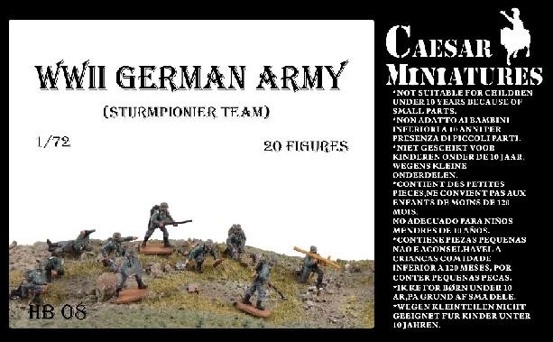 Caesar Miniatures 1/72 WWII German Army Sturmpionier Team (20)