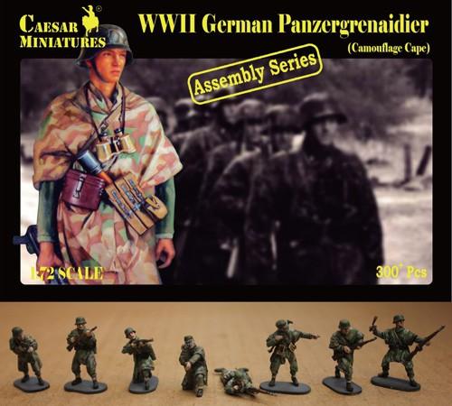 Caesar Miniatures 1/72 WWII German Panzergrenadier Camouflage Cape (16 multi-pos