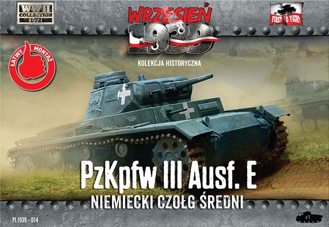 Image 0 of First To Fight 1/72 WWII PzKpfw III Ausf E German Medium Tank