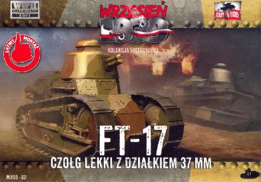 First To Fight  1/72 FT17 Light Tank w/Round Turret & 37mm Gun
