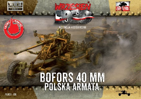 First To Fight Models 1/72 WWII Bofors 40mm Anti-Aircraft Gun