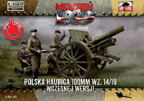 First To Fight Models 1/72 WWII 100mm Polish wz14/19 Early Version Howitzer