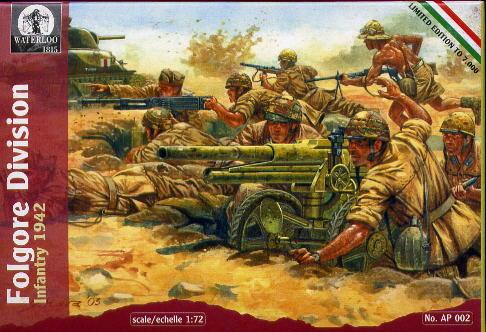 Hat 1/72 Waterloo: WWII Italian Infantry Folgore Div 1942 (44)