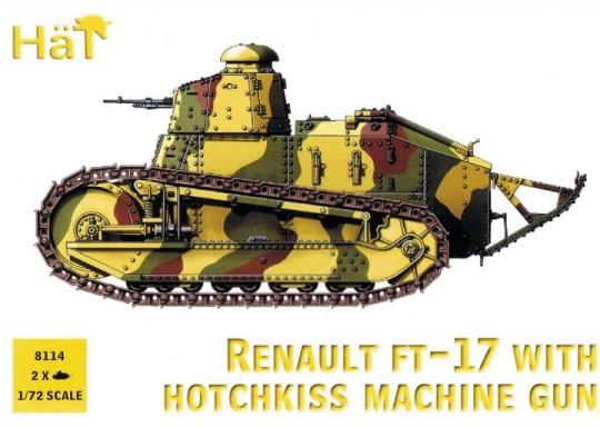 HAT 1/72  Renault FT17 Tank w/Hotchkiss Machine Gun (2)