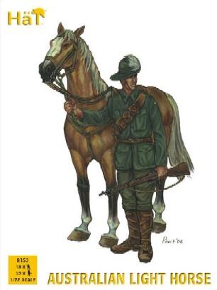 Hat 1/72 WWI Australian Light Horse (18 Mtd, 12 Foot, 21 Horses)