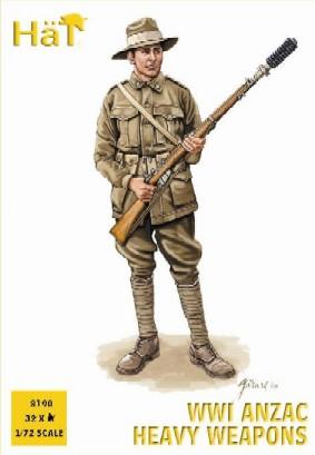 Hat 1/72 WWI ANZAC Heavy Weapons (4) & Soldiers (32)
