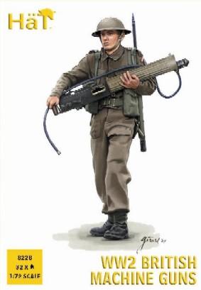 Hat 1/72 WWII British Machine Gun Team (32 & 4 Heavy Guns)