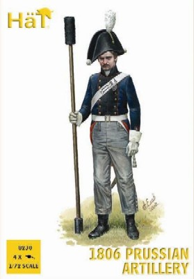 Hat 1/72 Napoleonic 1806 Prussian Artillery (16 w/4 Cannons)