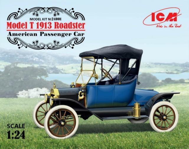 ICM Models 1/24 Model T 1913 Roadster American Passenger Car