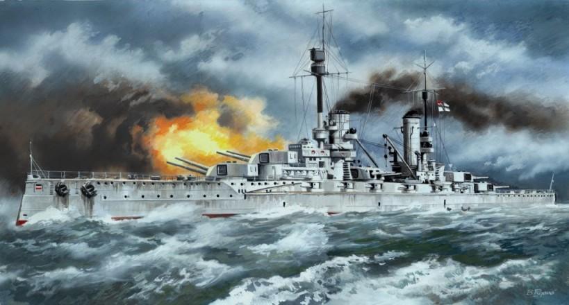 ICM Models 1/350 WWI German Kronprinz Battleship