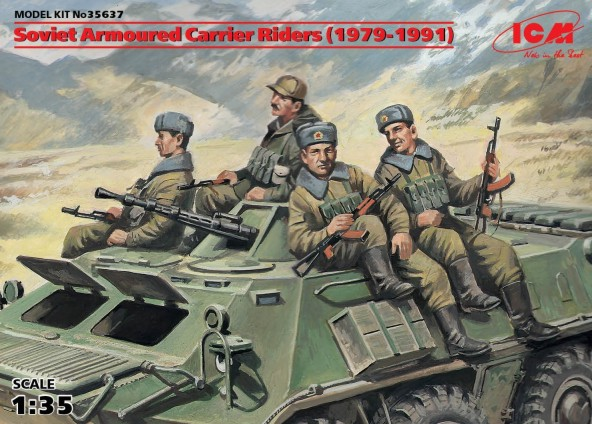 ICM Models 1/35 Soviet Armored Carrier Riders 1979-1991 (4)
