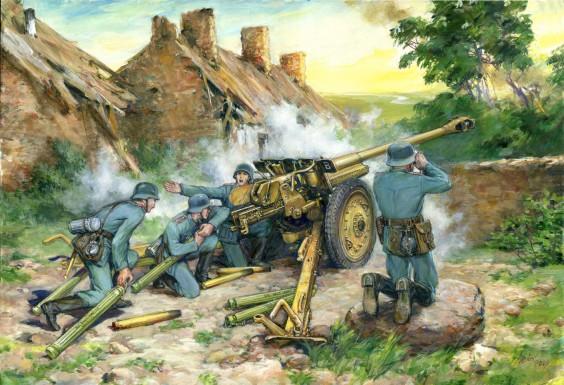 ICM Models 1/35 7.62cm PaK 36(r) Gun w/4 Crew