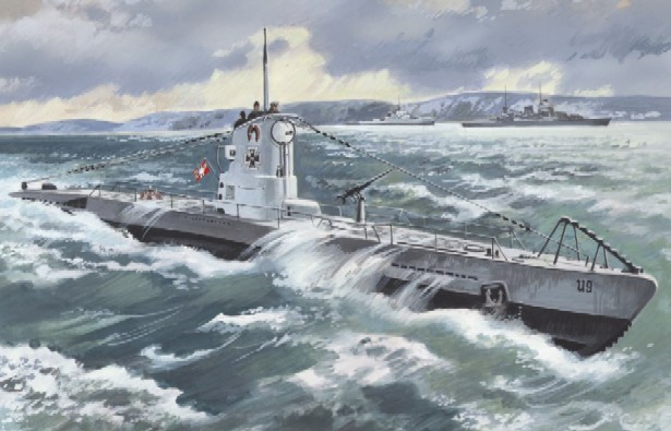 ICM Models 1/144 U-Boat Type IIB German Submarine 1939