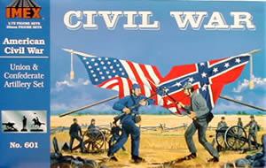 Imex 1/72 Union & Confederate Artillery Civil War Figure Set