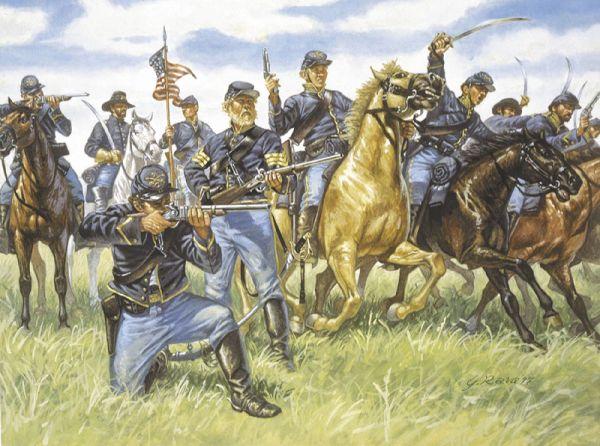 Image 0 of Italeri 1/72 Union Cavalry (17 Mtd)