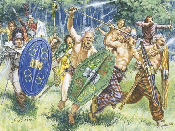 Italeri 1/72 Gaul Warriors Set 6022 (40)