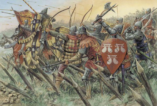 Italeri 1/72 100 Years War: English Knights & Archers (8 Mtd & 18 Foot)