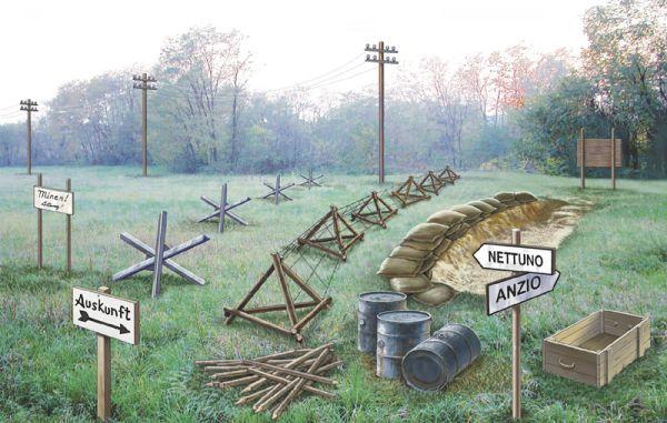 Italeri 1/72 WWII Battlefield Accessories Set