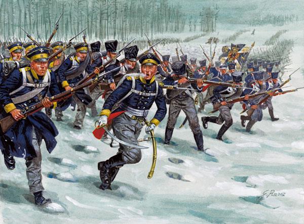 Italeri 1/72 Napoleonic War: Prussian Infantry (48, 3 Horses)